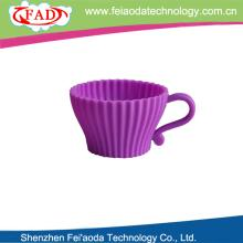 New product eco-friendly silicon teacup cupcake set cake decoration
