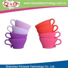 New product eco-friendly silicone cupcake decoration cake decorating with plastic saucer set