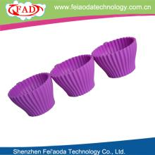 New product eco-friendly silicone  cupcake   decoration  cake decorating with plastic saucer