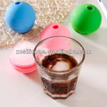 OEM unbreakable cute shapes egg shape silicone ice cube tray
