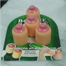 2014 promotion 100% food grade silicone rubber champagne stopper