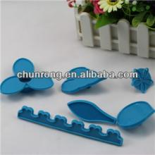 plastic gum paste flower cutters for cake icing,75pcs cake decorating cutters set