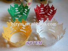 4 Colors Red Green White Gold Paper Cake Cup Cupcake Wrapper for 2014 Christmas Home Party Cup Cake