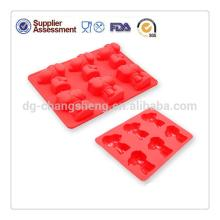 Custom design silicone cake moulds cute bear silicone cake molds for cake decorating high quality