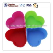 2014 New design mini heart shaped silicone cup cake moulds wedding cake decorations cupcake decorati