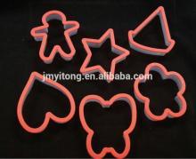 2014 China DIY 6 PCS Plastic cookie cutter /cookie press cake decoration set