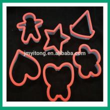 christmas snow flower plastic cookie cutter/4 PCS cookie press cake decoration set