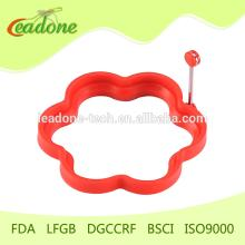 Heart Shape Stainless Steel Handle Silicone Rubber Egg Ring