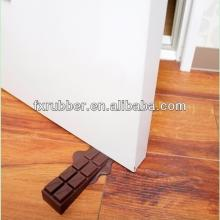 Chocolate bar shaped silicone rubber door wedges for hotel home