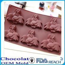 MFG Various shape silicone chocolate molds textured egg shape cake decorate push mold