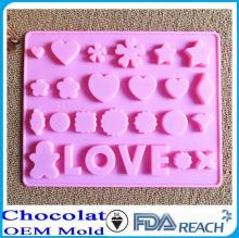 MFG Various shape silicone chocolate molds silicone egg ring molds