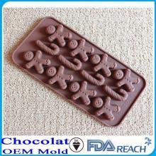 MFG Various shape silicone chocolate molds mirakel cake decorate push mold