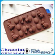 MFG Various shape silicone chocolate molds happy birthday shaped cake decorate push mold