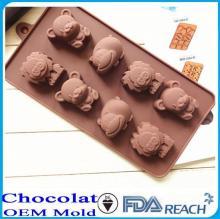 MFG Various shape silicone chocolate molds flower shaped cake decorate push mold