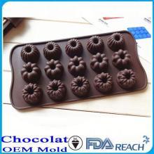 MFG Various shape silicone chocolate molds kid image cake decorate push mold