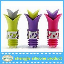 Lily shape Waterproof silicone wine stopper in bulk