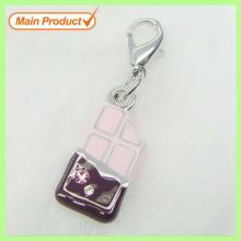 2013 Hot Sale Pink Enamel Chocolate Bar Charm #14689