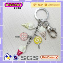 Girl Design Colorful Imitation Enamel Lollipop Keychain #15555