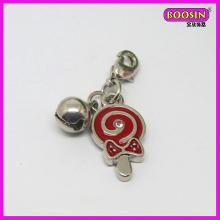 Zinc alloy little lollipop pendant enamel red lollipop necklace pendant(16572)