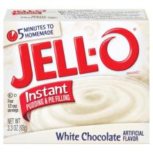 Jell-O Fat Free Instant White Chocolate Pudding & Pie Filling 3.3 oz (43000-20443)