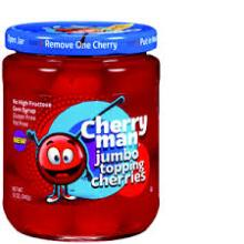 CherryMan Jumbo Topping Cherries Maraschino Cherries 12oz (41580-64818)