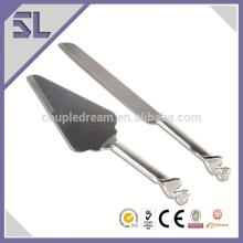 Zinc-Alloy Silver Plate Wedding High Ended Cake Decorating Tool For Wedding Cake Knife Set Wholesale