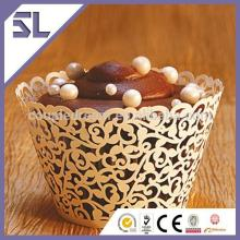 Crown Laser Paper Cupcake Wrappers for Cake Decoration China Supplier