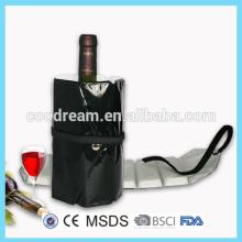 PE deluxe red wine bottle cooler sleeve/beer bottle cooler bag