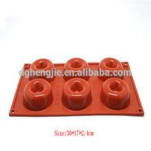 6 Cups cake decoration silicone doughnut Mold