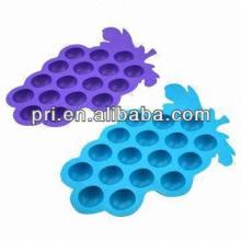 Silicone Ice Cube Trays Mold Muffin Candy Jelly Chocolate Maker Bar Drink Party grape shape