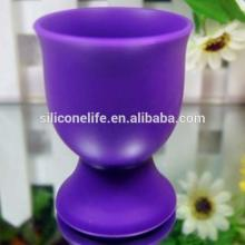 High quality Eco-friendly food grade mini red wine goblet cups cup silicone wine cup