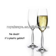Promotional high quality cheap plastic champagne glass BPA free