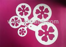 Plastic cake coffee stencil 5 piece set cake decorating tool