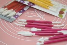 New Arrival high quality 8pcs Fondant Cake Decorating Flower Modelling Craft Clays Sugarcraft Tool C