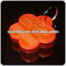 POP beautiful metal lollipop shape key chain/acrylic key chain/key chain