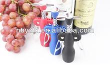 2014 new design Angel wings zinc alloy corkscrew red wine bottle opener