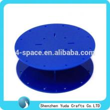 Exquisite blue acrylic lollipop stands,rounded plexiglass lollipop display