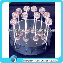 mirrored round cake pop stand lollypop stand holder perspex lollipop stand