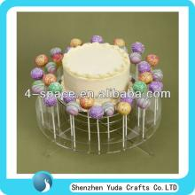 lovely round plexiglass cake pop stand perspex cake plates acrylic lollipop display