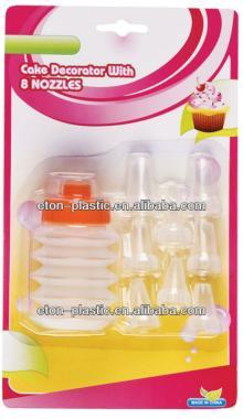 Plastic cake decorating supplies