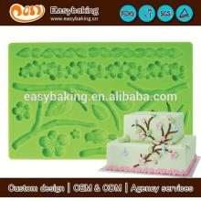 Wholesale custom 3D flower Gum Paste and fondant mold for cake decorating