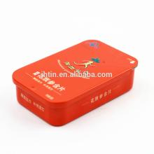 Tin Box with push and pull Lid for chewing Gum