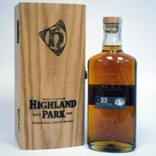 Highland Park 22y. Single Malt Whisky.