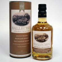 Ballechin 6th Bourbon. Single Malt Whisky.