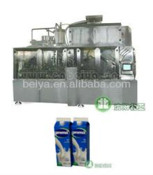 ultrasonic clean milk filling machine for gable top carton