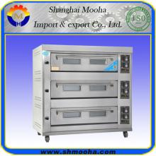 Industrial Gas Baking  Oven  for Bread and Cake / Bakery  Equipment (3 Decks 9 Trays)