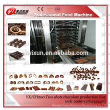 YX/CH200 Double shots center filled chocolate bar machine