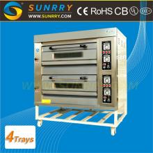 Front Stainless Steel Commercial Bakery Oven 2 Decks 4 Trays Bakery Oven Prices For CE (SY-DV24 SUNR