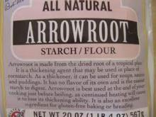 Arrowroot starch Food grade