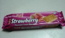STRAWBERRY Flavor Cream Biscuits